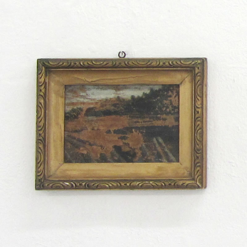 Halfdan, a found object, small painting.
